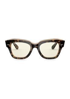 Ray-Ban RB2186 49MM Square Blue Light Glasses