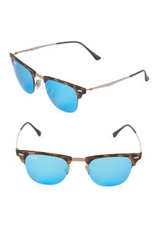 Ray-Ban 49MM Titanium Square Sunglasses