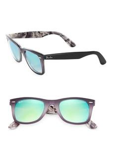 Ray-Ban 50MM Mirrored Wayfarer Sunglasses