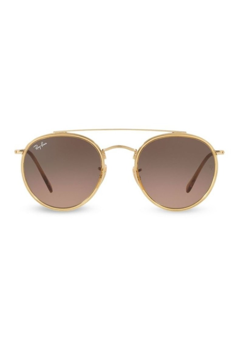 Ray-Ban RB3647 51MM Iconic Round Aviator Sunglasses