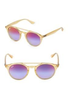 Ray-Ban 51MM Mirrored Round Sunglasses