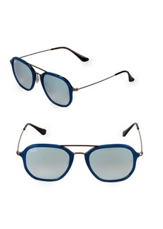 Ray-Ban 52MM Square Mirrored Sunglasses