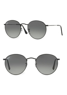 Ray-Ban 53MM Black Round Wire Sunglasses