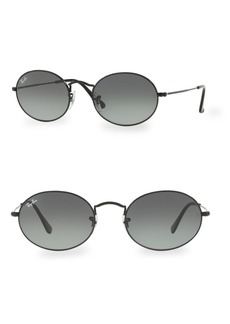 Ray-Ban 54MM Black Oval Wire Sunglasses
