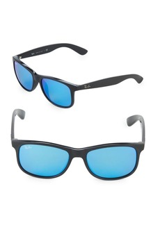 Ray-Ban 55MM Andy Rectangle Sunglasses