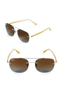 Ray-Ban 55MM Polarized Liteforce Square Sunglasses