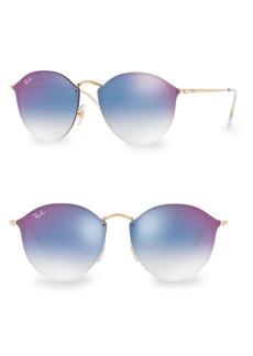 Ray-Ban 59MM Blaze Round Rimless Sunglasses