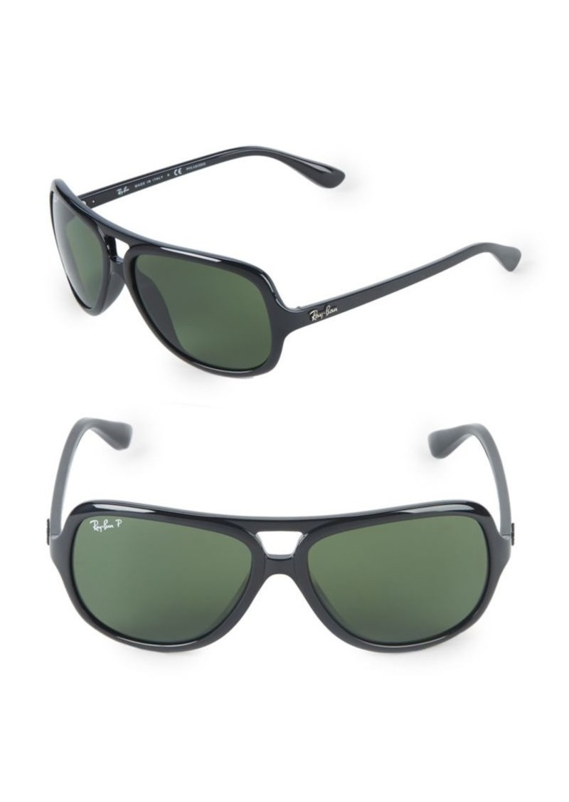 Ray-Ban 59MM Polarized Pilot Sunglasses