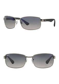Ray-Ban 60mm Rectangle Sunglasses
