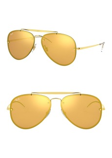 Ray-Ban 61mm Mirrored Lens Aviator Sunglasses