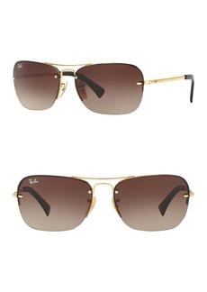 Ray-Ban 61mm Rectangle Sunglasses
