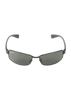 Ray-Ban 62MM Polarized Wrap Sunglasses