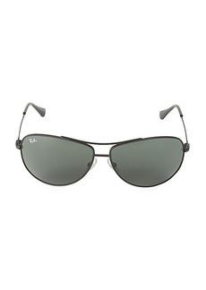 Ray-Ban 63MM Matte Aviator Sunglasses