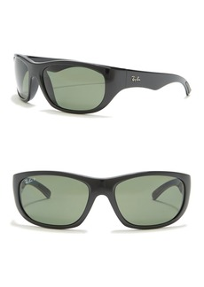 Ray-Ban 63mm Polarized Wrap Sunglasses