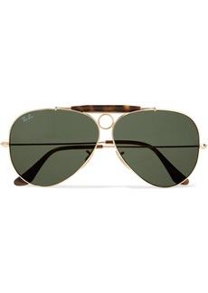 Ray-Ban Aviator gold-tone and tortoiseshell acetate sunglasses