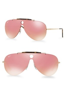 Ray-Ban Blaze Shooter Mirrored Aviator Sunglasses