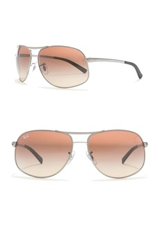 Ray-Ban Gradient Pilot 64mm Sunglasses