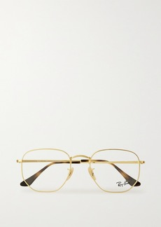 Ray-Ban Hexagon-frame Gold-tone Optical Glasses