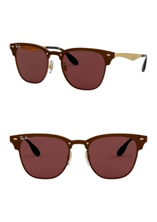 Ray-Ban Highstreet 47mm Clubmaster Square Sunglasses