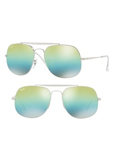 Ray-Ban Icons 57mm Aviator Sunglasses