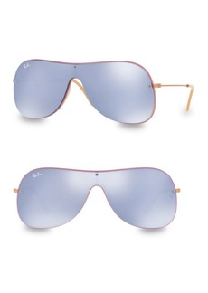 Ray-Ban Lilac Mirrored Shield Sunglasses