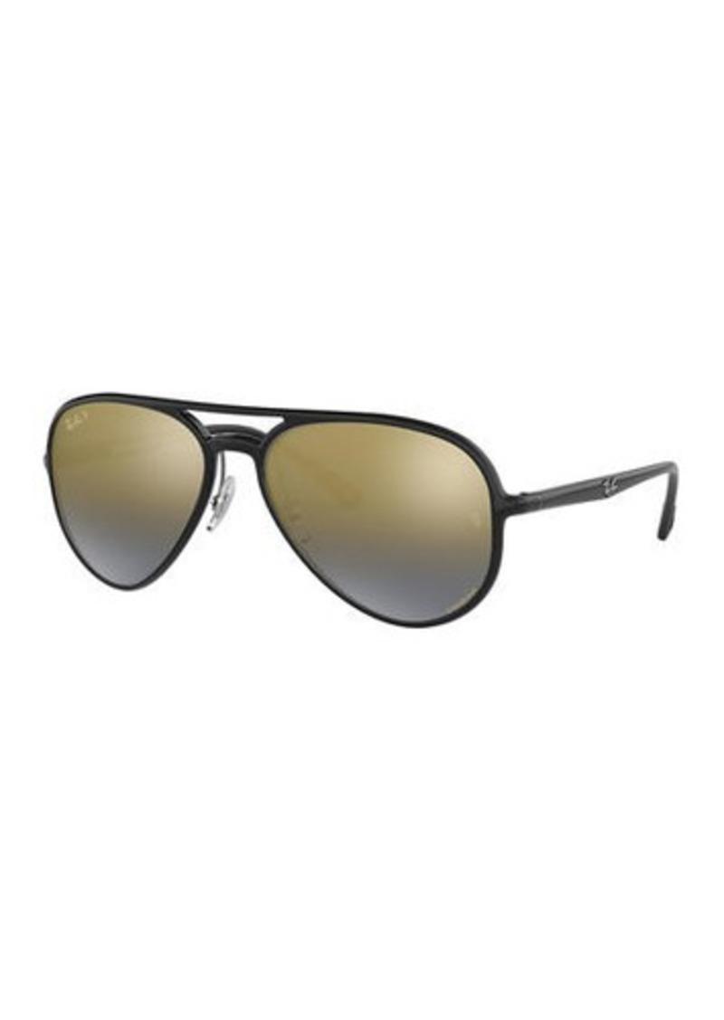 Ray-Ban Men's Chromance Mirrored Propionate Aviator Sunglasses