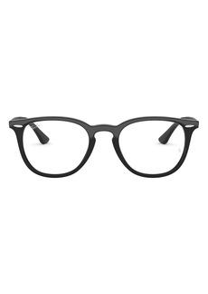 Men's Ray-Ban 52mm Optical Glasses - Shiny Black