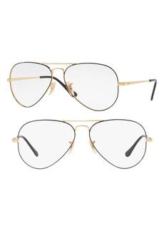 Men's Ray-Ban 55mm Optical Glasses - Gold Black