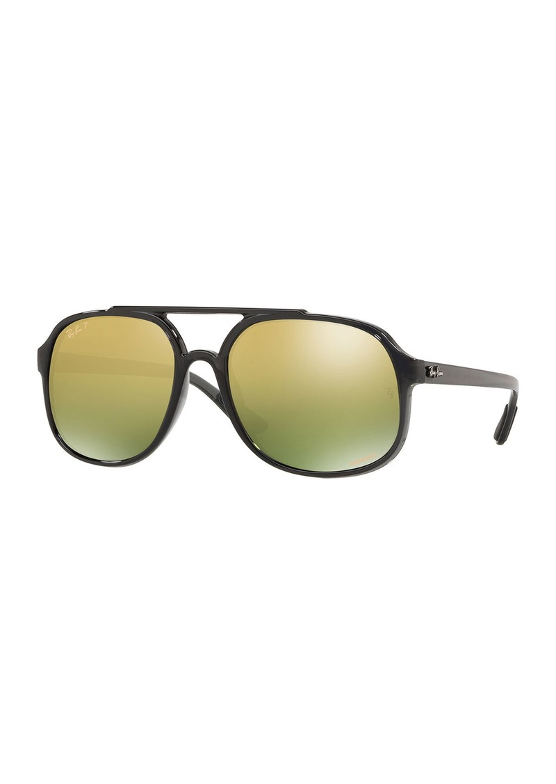 Ray-Ban Men's Square Chromance Propionate Sunglasses