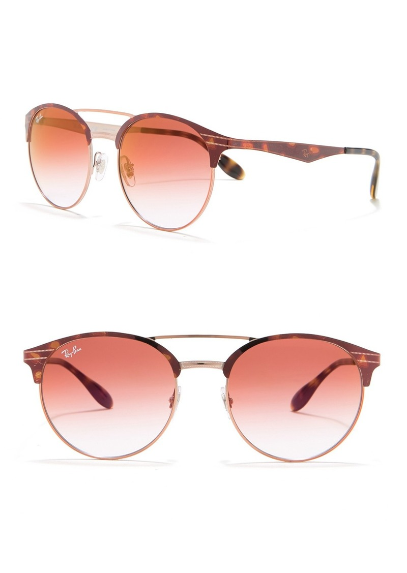 Ray-Ban 54mm Round Brow Bridge Sunglasses