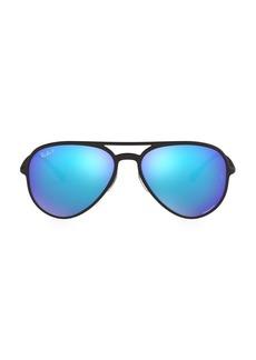 Ray-Ban RB4320 58MM Mirrored Aviator Sunglasses