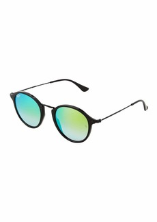 Ray-Ban Mirrored Round Acetate Sunglasses