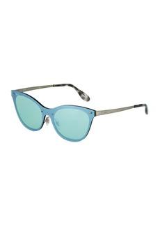 Ray-Ban Mirrored Shield Cat-Eye Sunglasses