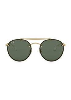 Ray-Ban RB3614 54MM Blaze Round Aviator Sunglasses