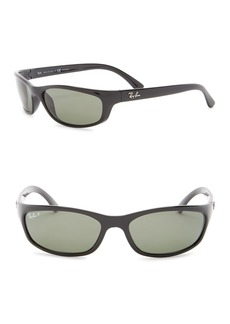 Ray-Ban 57mm Pillow Polarized Rectangle Sunglasses