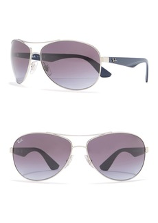 Ray-Ban Pilot 63mm Metal Aviator Sunglasses