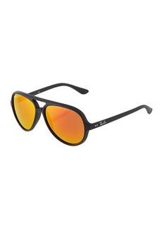Ray-Ban Pilot Aviator Plastic Sunglasses