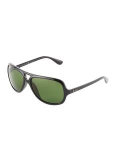 Ray-Ban Polarized Plastic Aviator Sunglasses