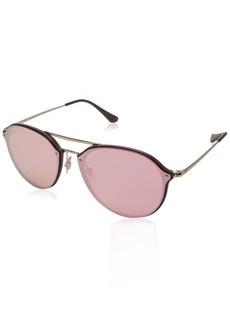 Ray-Ban 0rb4292n6327e462blaze Doublebridge Non-Polarized Iridium Square Sunglasses BROWN