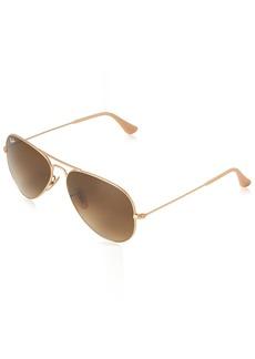 Ray-Ban 3025 Aviator Large Metal Non-Mirrored Non-Polarized Sunglasses Gold/Silver/Pink Mirror (001/3E) 58mm