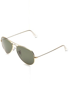 Ray-Ban 3025 Aviator Large Metal Non-Mirrored Polarized Sunglasses /Green 55mm