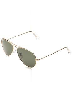 Ray-Ban 3025 Aviator Large Metal Non-Mirrored Polarized Sunglasses /Green 55mm