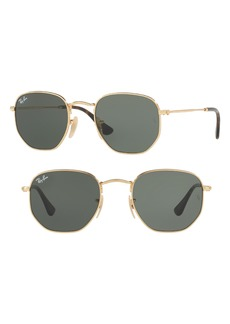 Ray-Ban 48mm Hexagonal Flat Lens Sunglasses