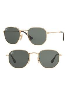 Ray-Ban 48mm Hexagonal Flat Lens Sunglasses