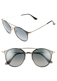 Ray-Ban 49mm Gradient Round Sunglasses