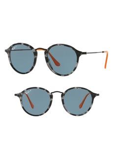Ray-Ban 49mm Polarized Round Sunglasses