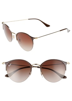 Ray-Ban 50mm Round Clubmaster Sunglasses