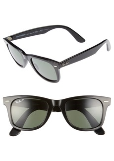 Ray-Ban 50mm Polarized Wayfarer Sunglasses