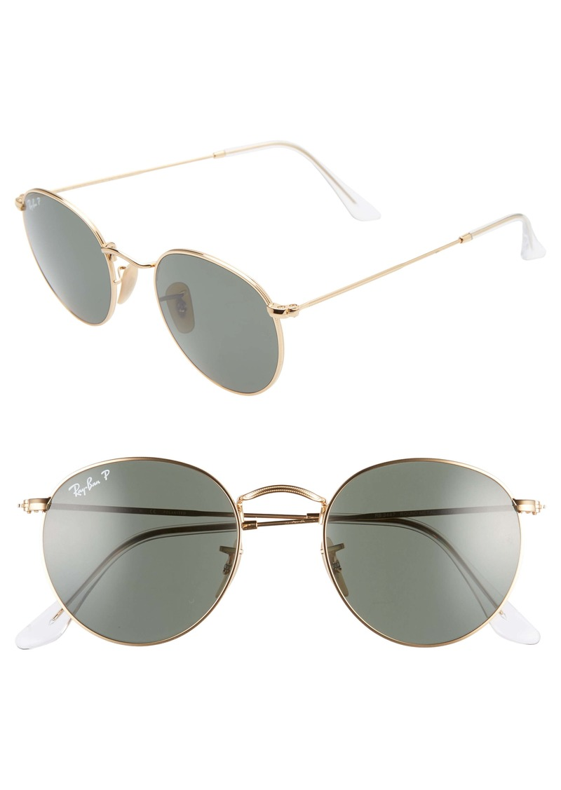 Ray-Ban 50mm Retro Inspired Round Metal Sunglasses