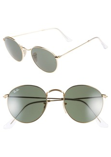 Ray-Ban 50mm Round Metal Sunglasses